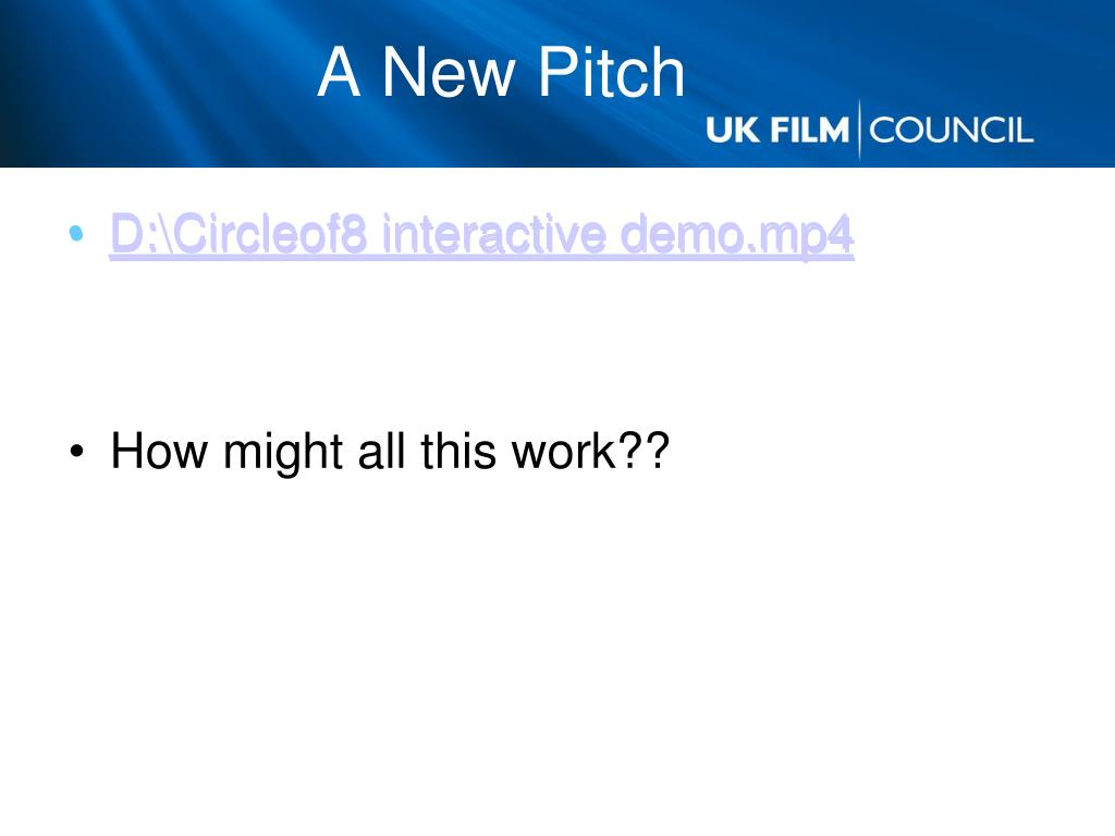 A New Pitch