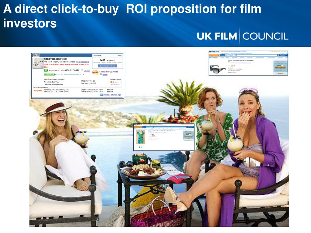 A direct click-to-buy  ROI proposition for film investors