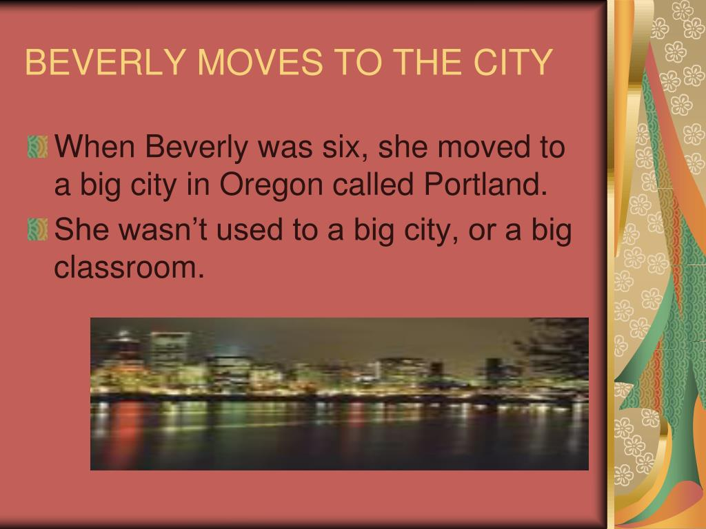 BEVERLY MOVES TO THE CITY
