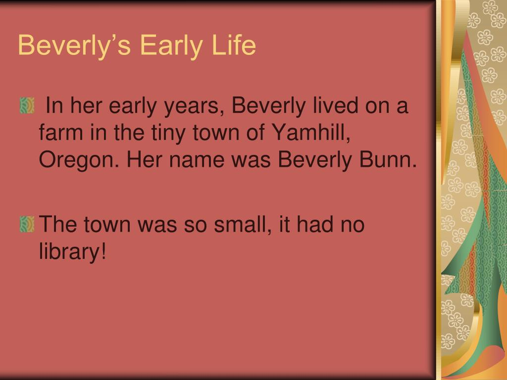 Beverly's Early Life