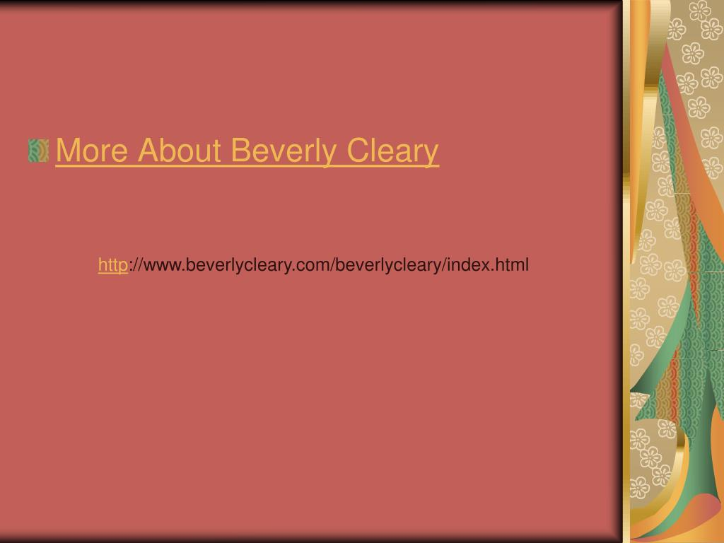 More About Beverly Cleary