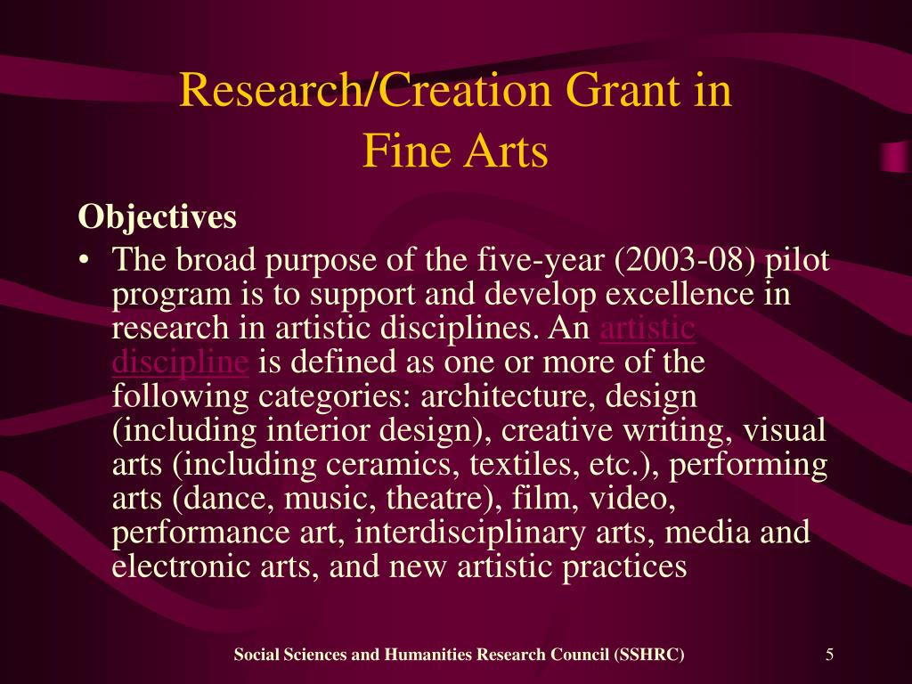 Research/Creation Grant in