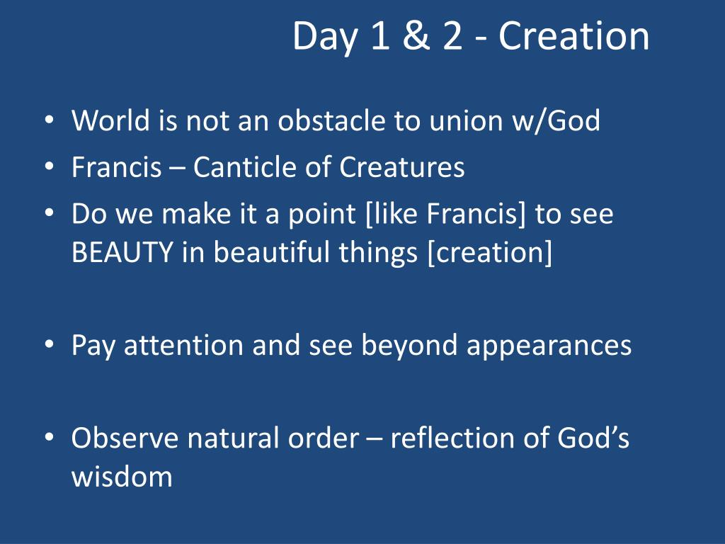 Day 1 & 2 - Creation