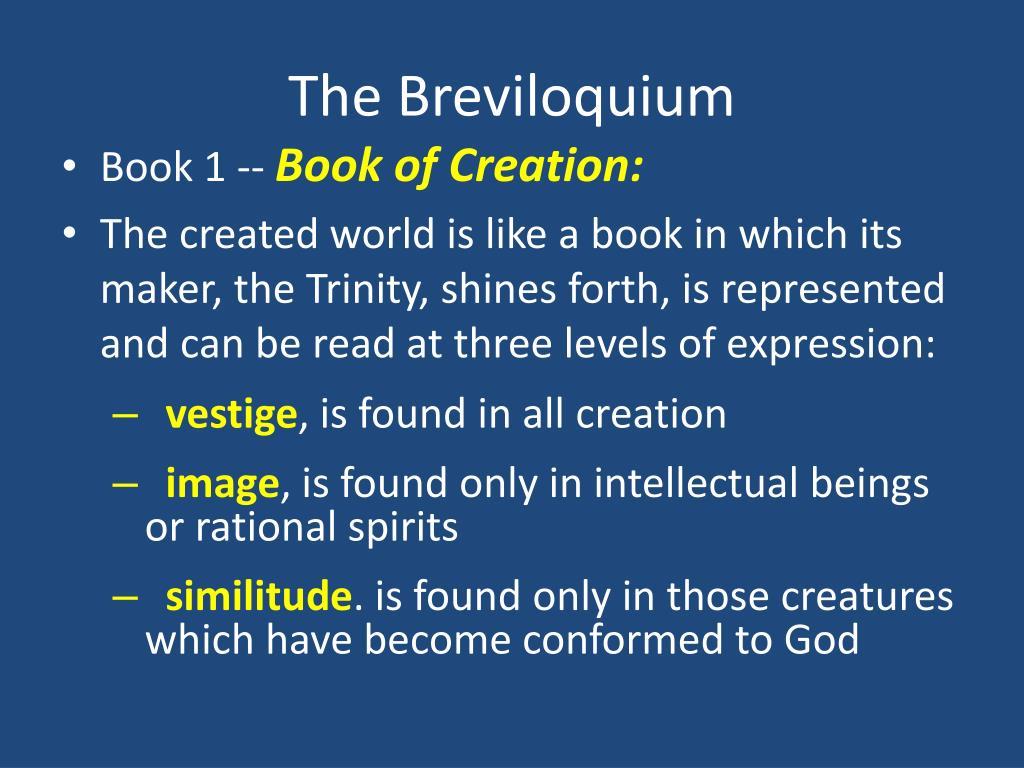 The Breviloquium