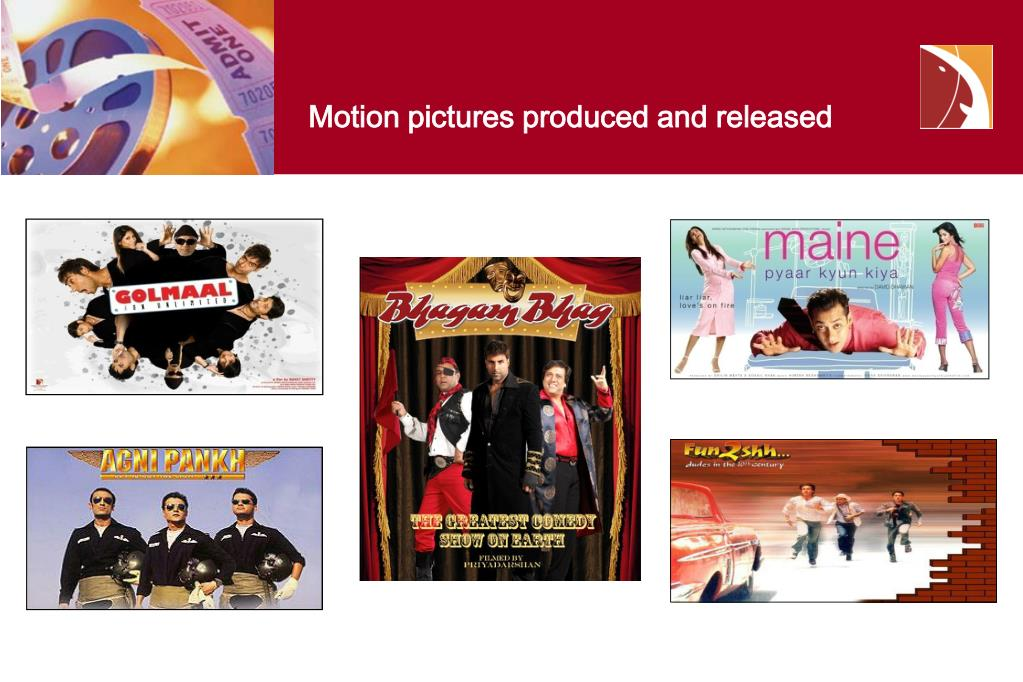 Motion pictures produced and released