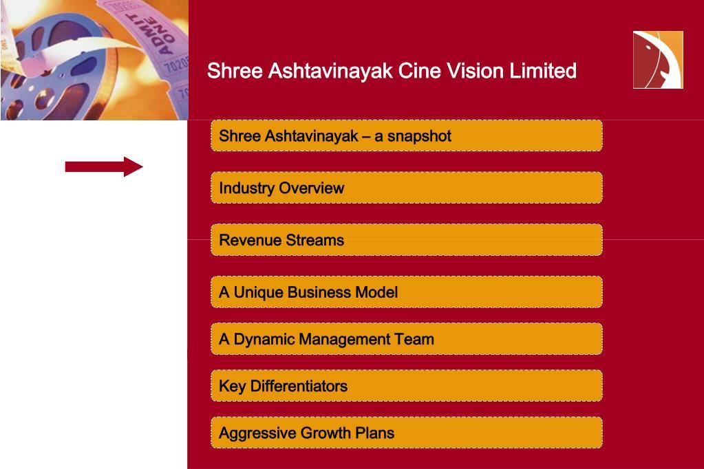 Shree Ashtavinayak Cine Vision Limited