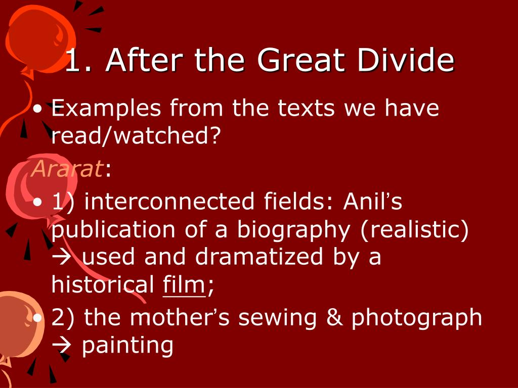 1. After the Great Divide