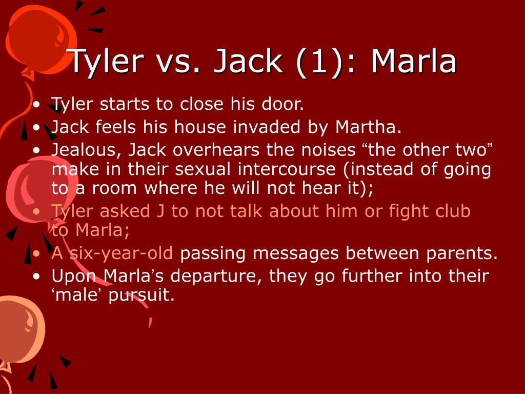 Tyler vs. Jack (1): Marla