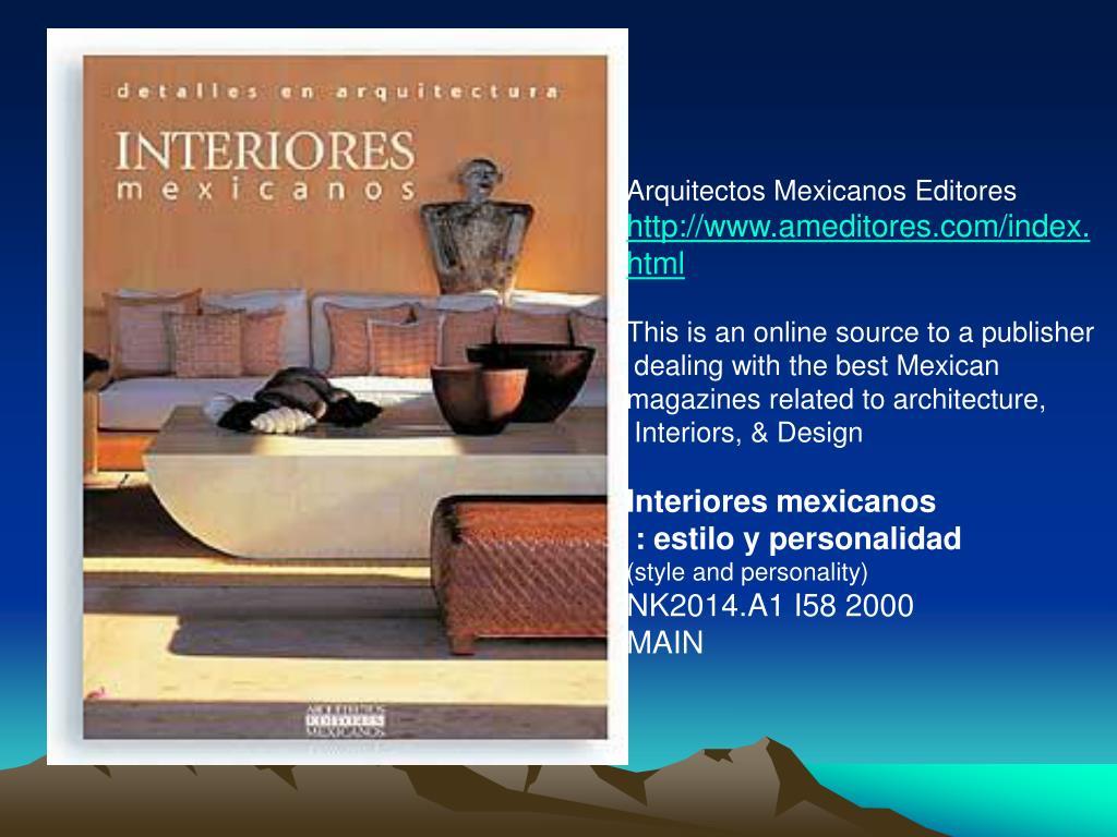 Arquitectos Mexicanos Editores