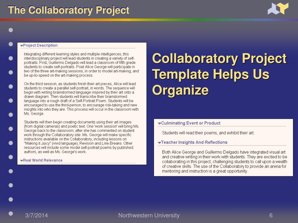 Collaboratory Project Template Helps Us Organize