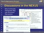 discussions in the nexus