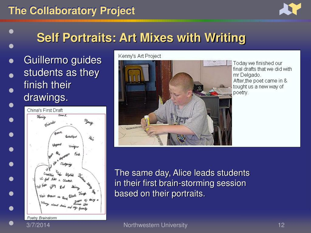 Self Portraits: Art Mixes with Writing