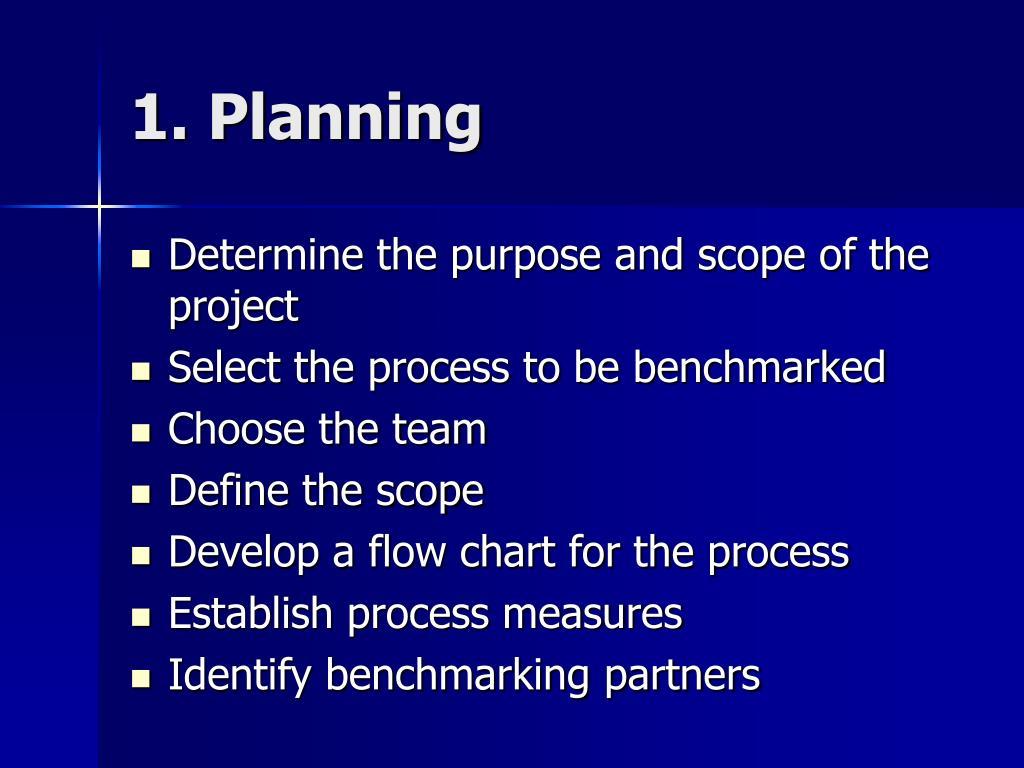 1. Planning