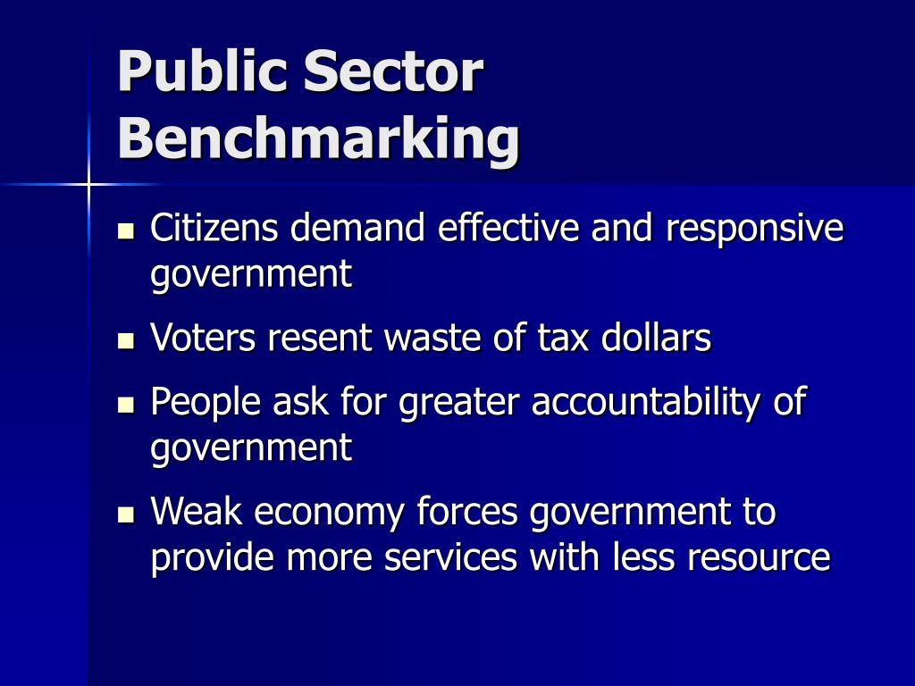 Public Sector Benchmarking
