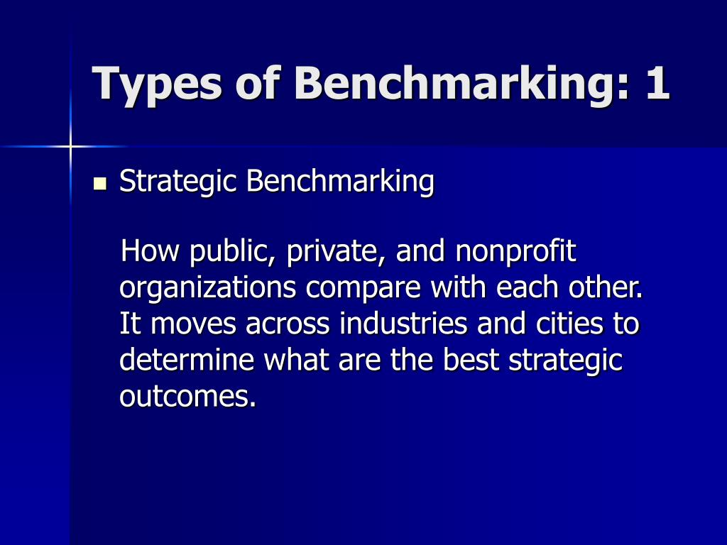 Types of Benchmarking: 1