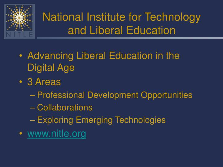 National institute for technology and liberal education