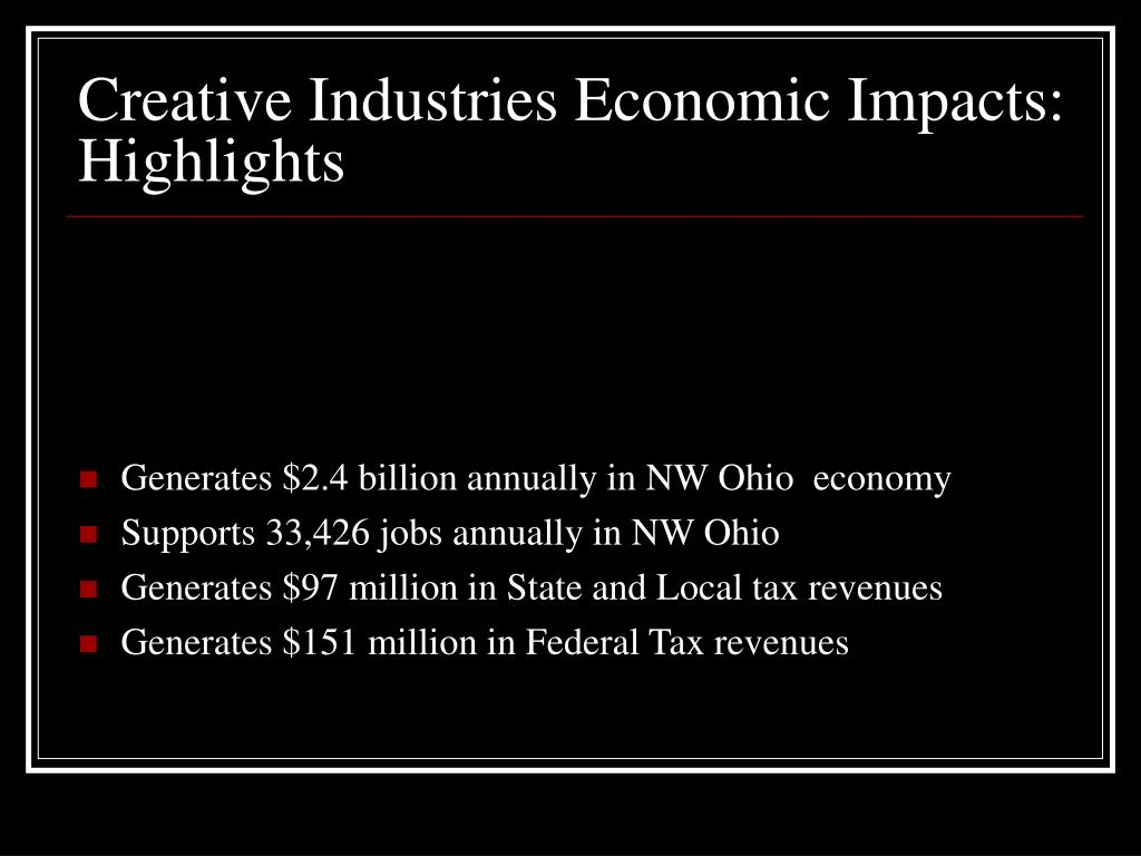Creative Industries Economic Impacts: Highlights