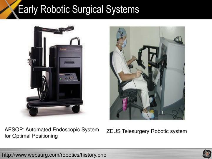 Early robotic surgical systems