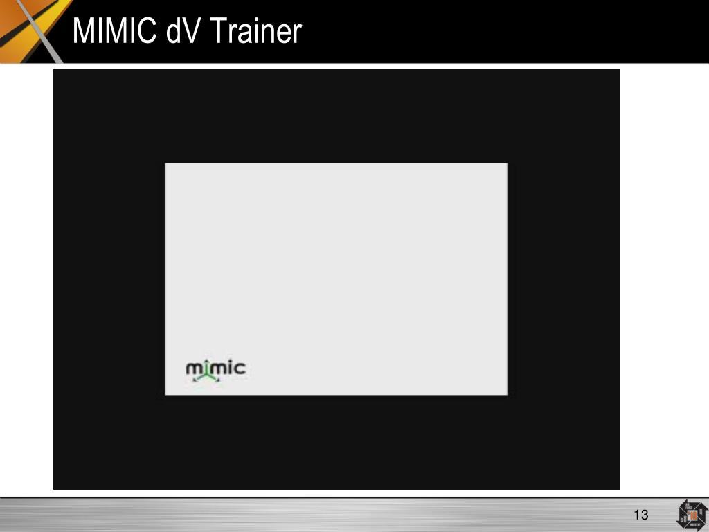 MIMIC dV Trainer