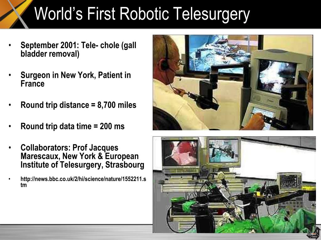 World's First Robotic Telesurgery