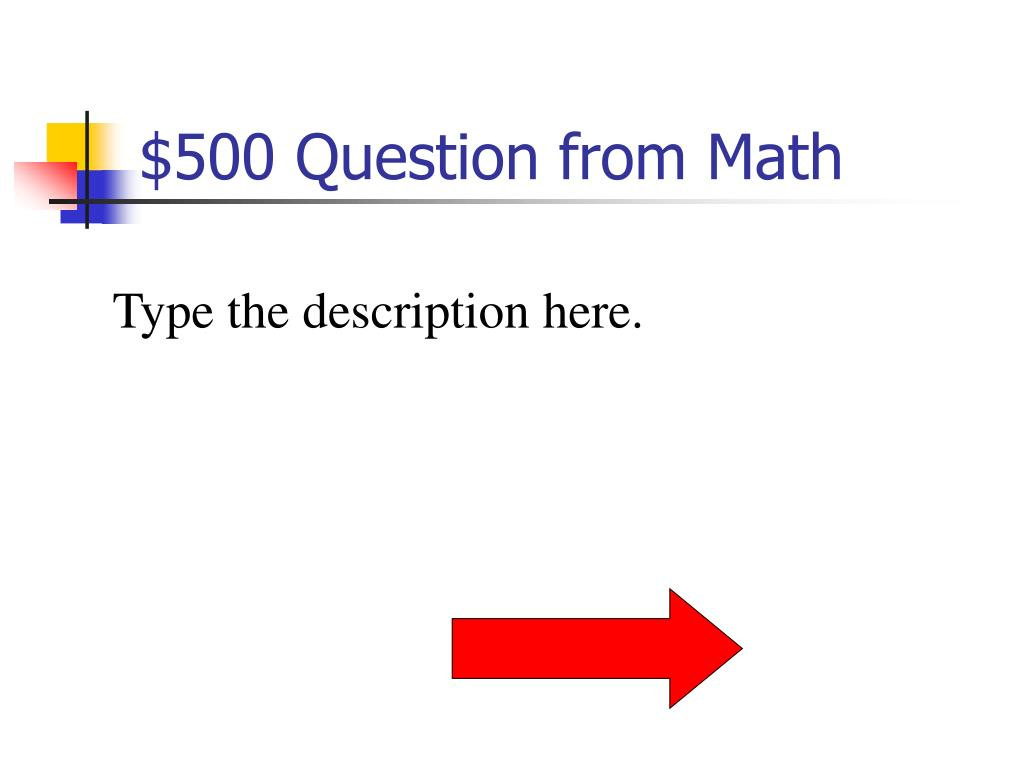 $500 Question from Math