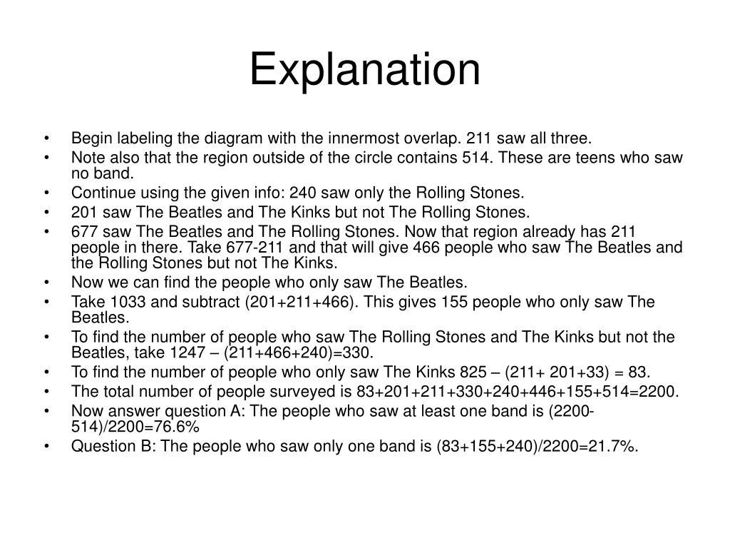 Explanation