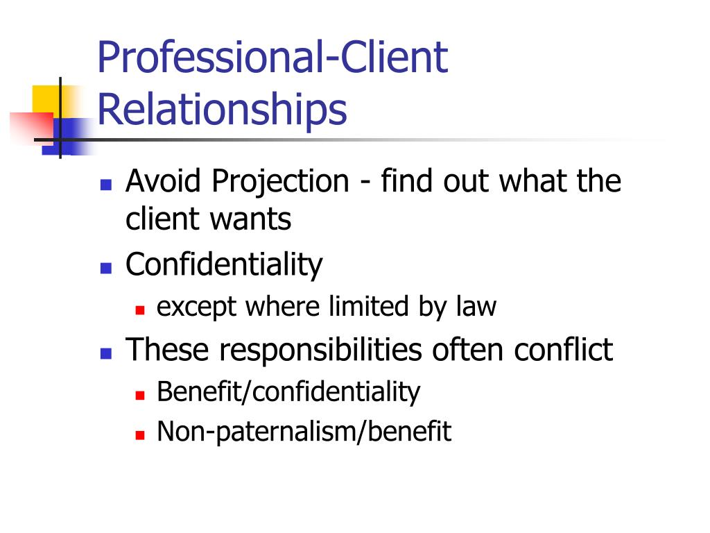 Dating client ethics