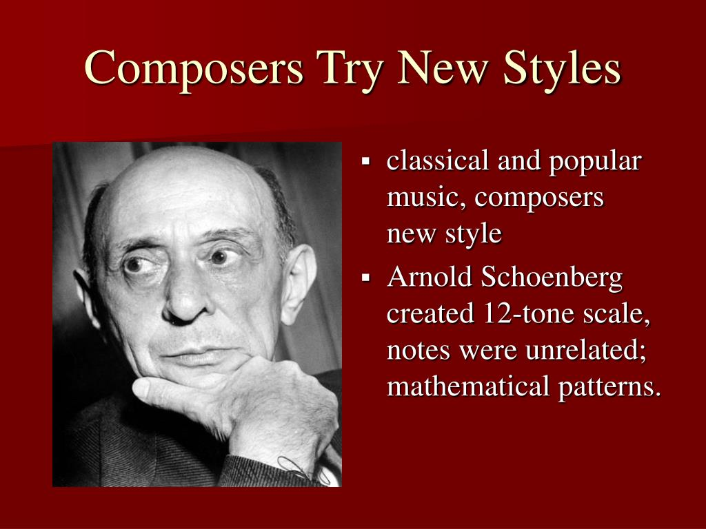 Composers Try New Styles