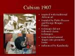 cubism 1907