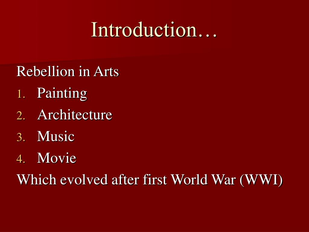 Introduction…