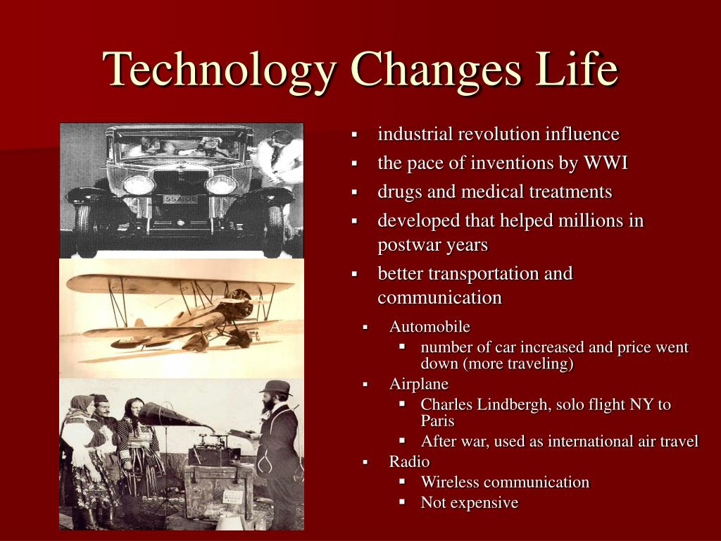Technology Changes Life
