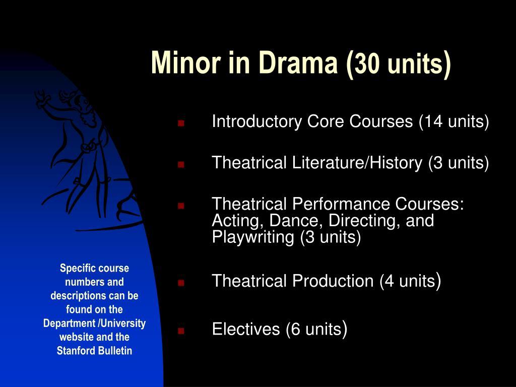 Minor in Drama (