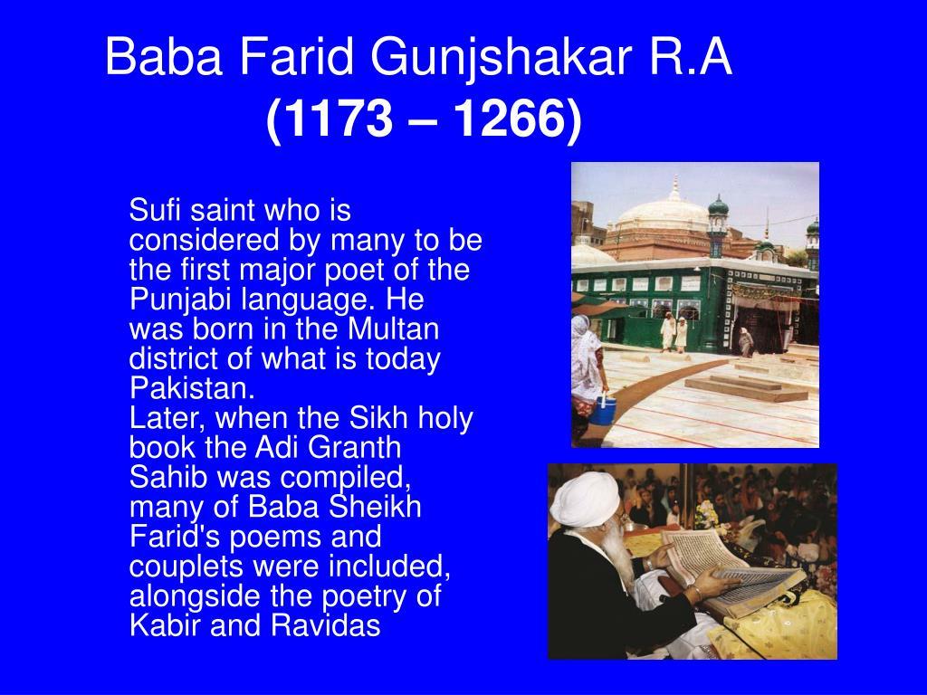 Baba Farid Gunjshakar R.A