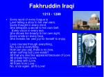 fakhruddin iraqi 1213 128923
