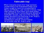 fakhruddin iraqi