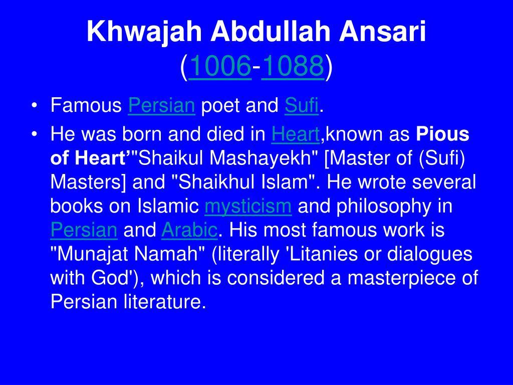 Khwajah Abdullah Ansari