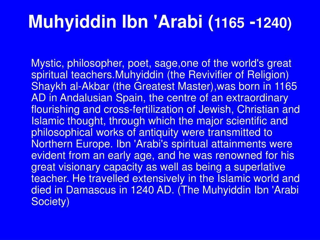 Muhyiddin Ibn 'Arabi (