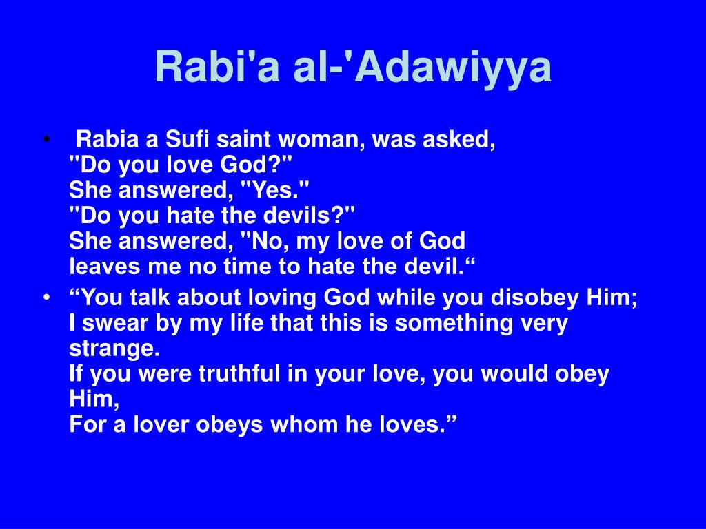 Rabi'a al-'Adawiyya