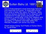 sultan bahu d 1691