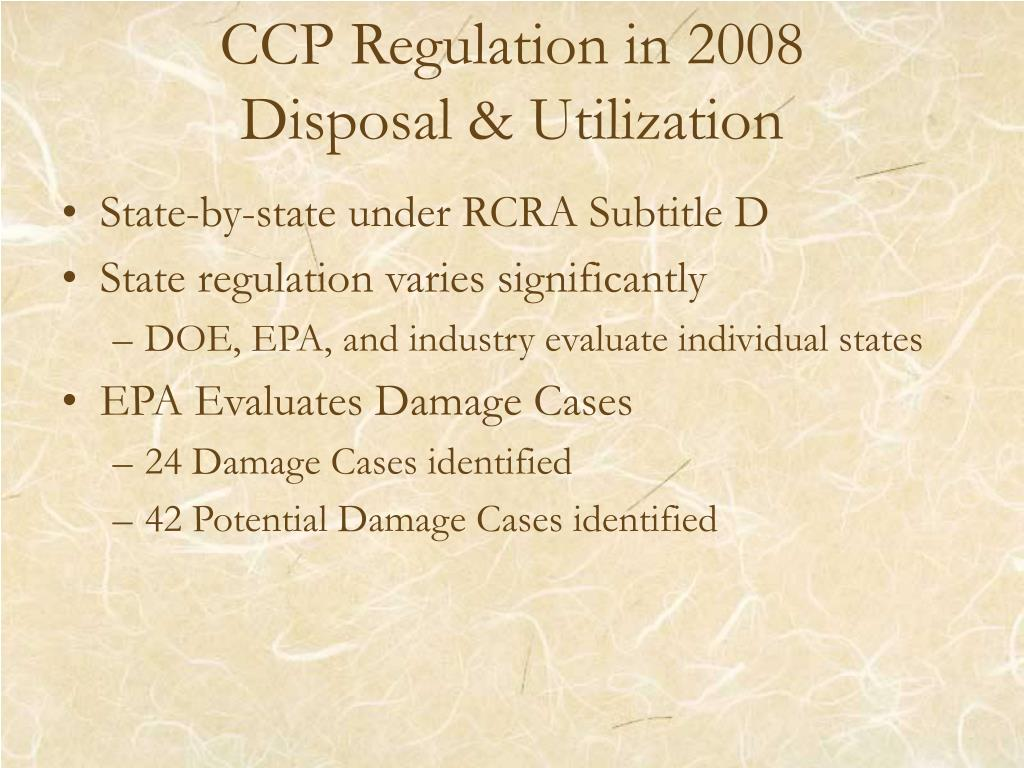 CCP Regulation in 2008