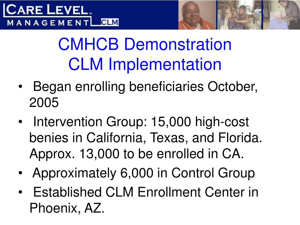 CMHCB Demonstration