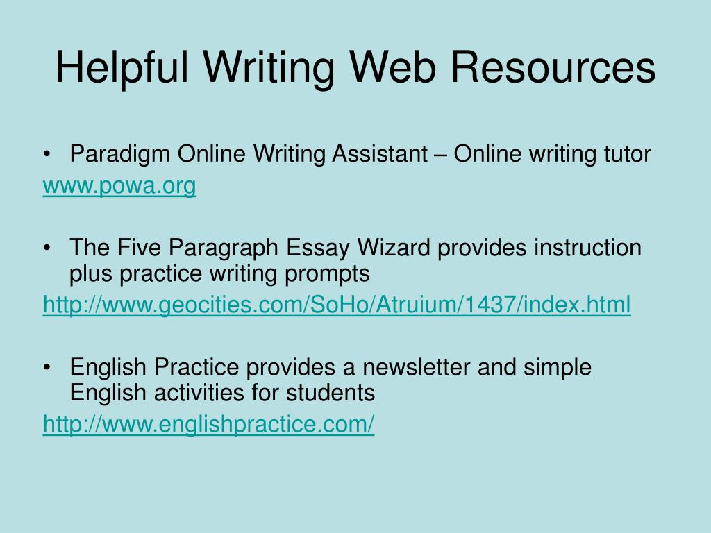 Helpful Writing Web Resources