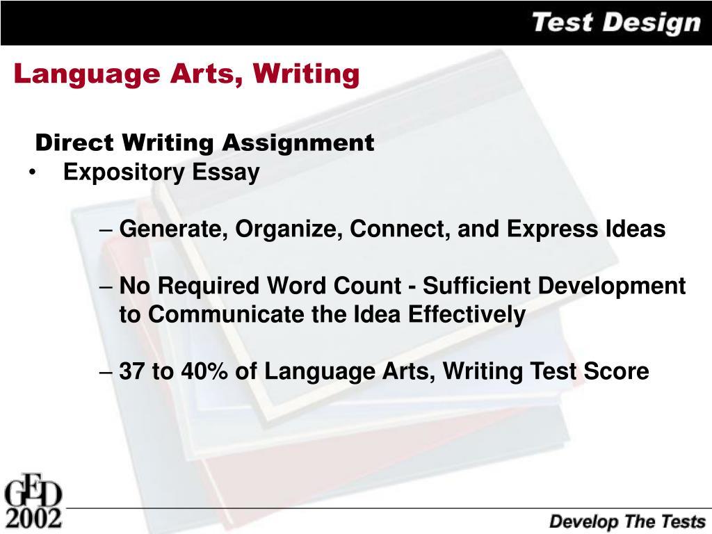 Language Arts, Writing