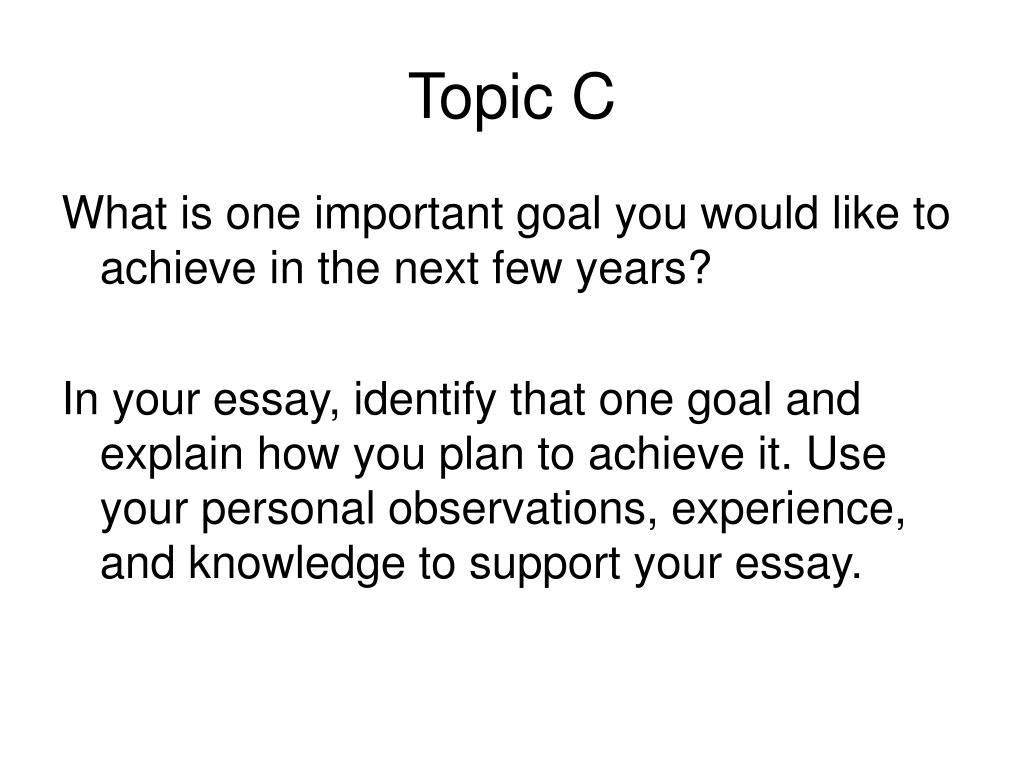 Topic C