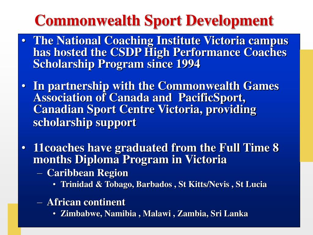 Commonwealth Sport Development