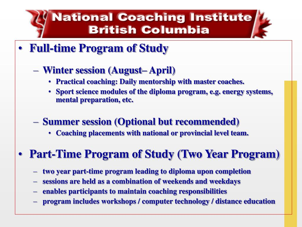 Full-time Program of Study
