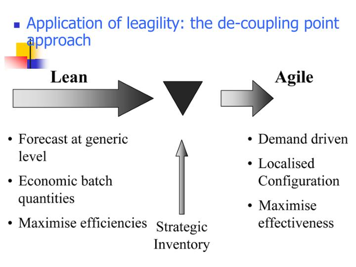 Application of leagility: the de-coupling point approach