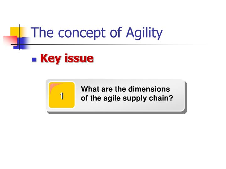 What are the dimensions of the agile supply chain?