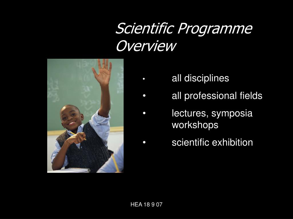 Scientific Programme Overview