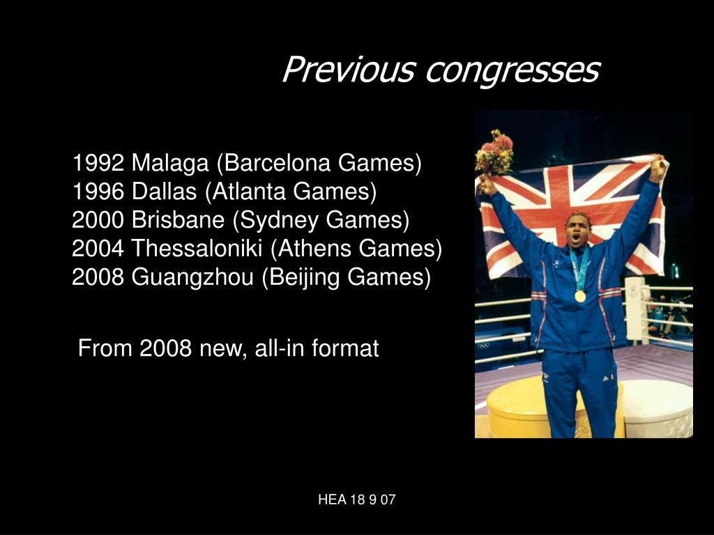 Previous congresses